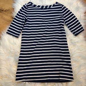 Old navy white & navy stripped dress size 4T